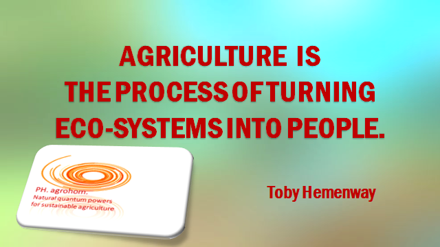 """Agriculture is turning ecosystems into people 1 - Updating of (Intensive) Agriculture by Natural """"Language of Frequences"""""""