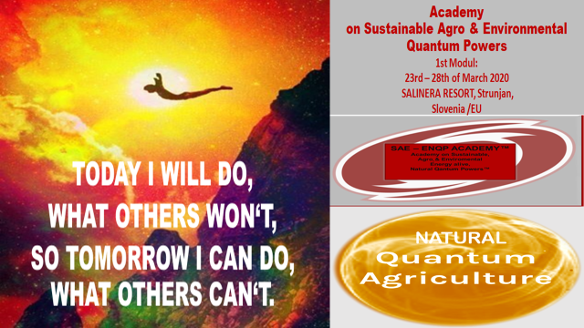 """today ill do what others wont so tomorrow i can do what others cant 1 - Updating of (Intensive) Agriculture by Natural """"Language of Frequences"""""""